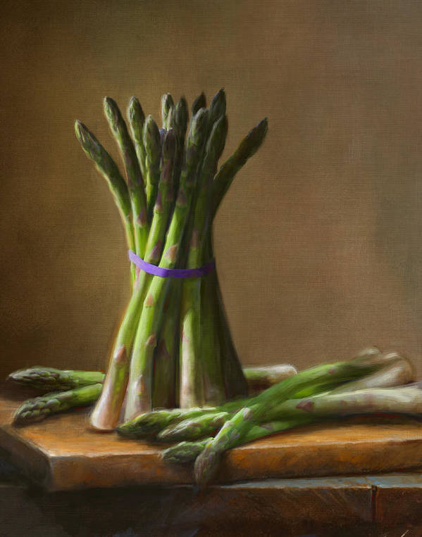 Robert Papp Poster featuring the painting Asparagus by Robert Papp