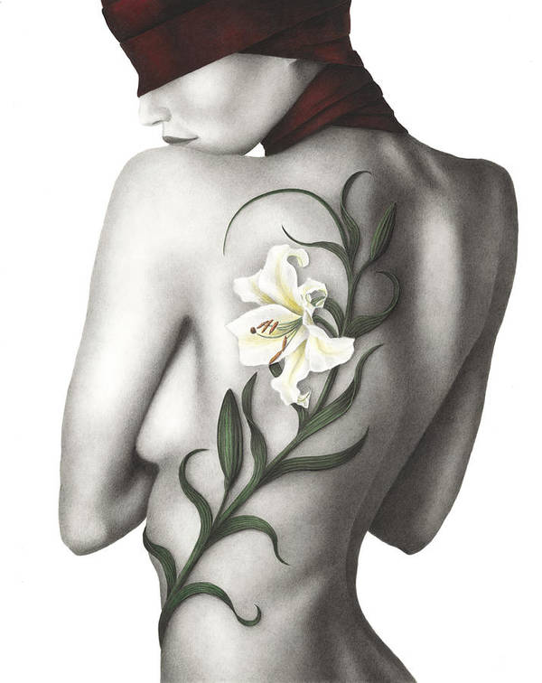 Woman Poster featuring the painting Sorrow by Pat Erickson
