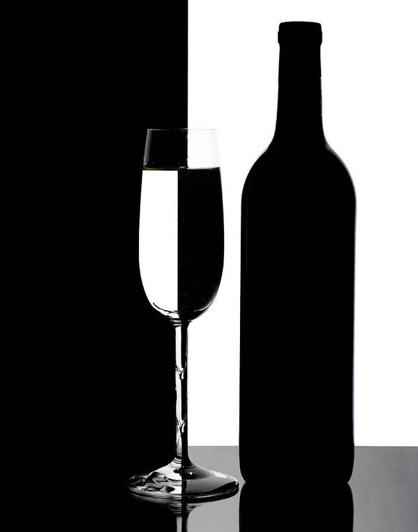 Wine Poster featuring the photograph Wine Silhouette by Tom Mc Nemar