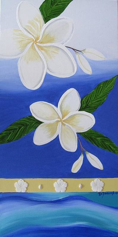 Hand Painted Poster featuring the painting Summer Breeze 1 by Deborah Peacock