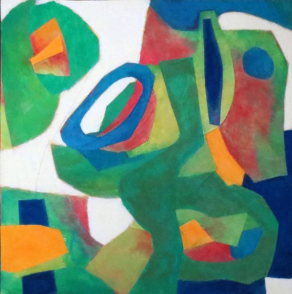 Abstract Expressionism Poster featuring the mixed media Adagio by Diane Fine