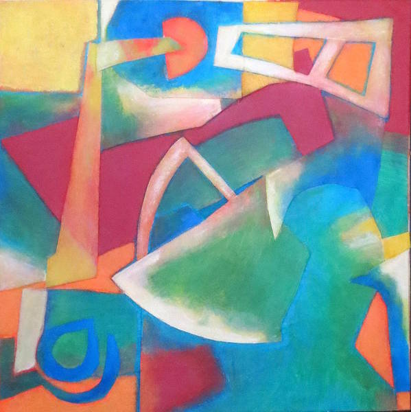 Abstract Expressionism Poster featuring the mixed media Jazz by Diane Fine