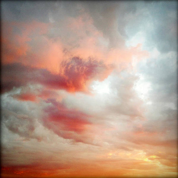 Abstract Poster featuring the photograph Sunset Sky by Les Cunliffe