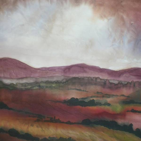 Purple Hills Poster featuring the painting After The Storm by Hazel Millington
