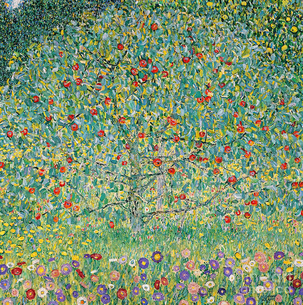 Gustav Klimt Poster featuring the painting Apple Tree I by Gustav Klimt