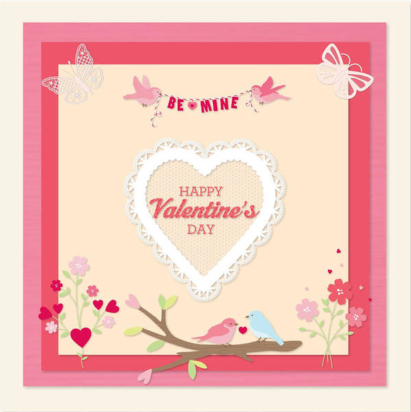 Valentines Card Poster featuring the digital art Be Mine by Arce Lorena