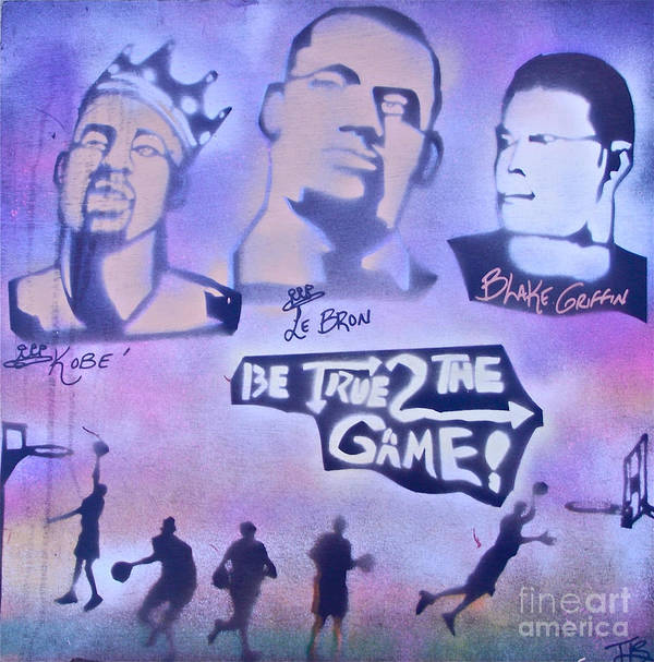 Kobe Bryant Poster featuring the painting Be True 2 The Game 1 by Tony B Conscious