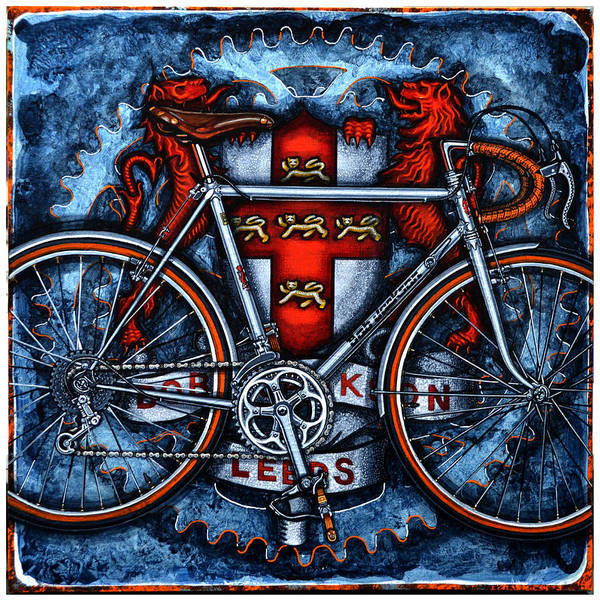 Bicycle Poster featuring the painting Bob Jackson by Mark Howard Jones