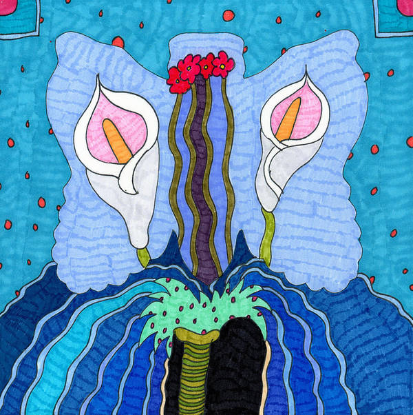 Butterfly Poster featuring the tapestry - textile Butterfly 2 by Therese May