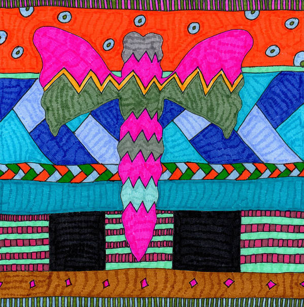 Butterfly Poster featuring the tapestry - textile Butterfly 4 by Therese May