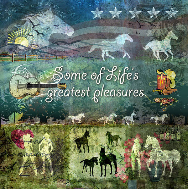 Country Poster featuring the digital art Country Pleasures by Evie Cook