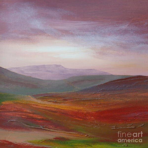 Landscape Poster featuring the painting Daybreak by Hazel Millington
