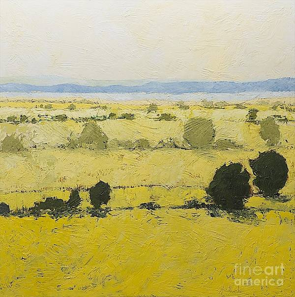 Landscape Poster featuring the painting Dry Grass by Allan P Friedlander
