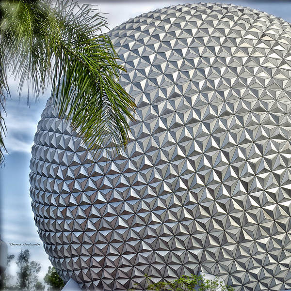 Epcot Poster featuring the photograph Epcot Globe by Thomas Woolworth