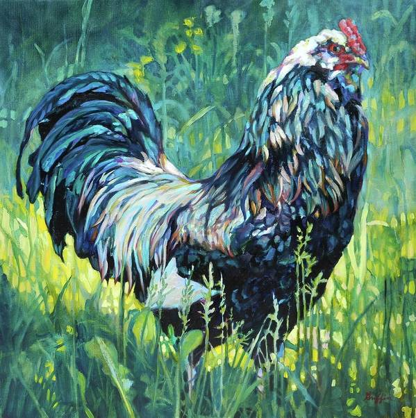 Farm Animal Poster featuring the painting Free Range by Patricia A Griffin