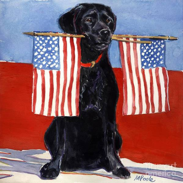 American Flag Poster featuring the painting Free To Be by Molly Poole