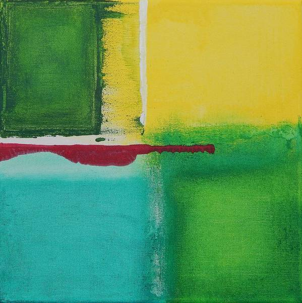 Abstract Poster featuring the painting Fresh 2 by Chaanda Bishop Weber