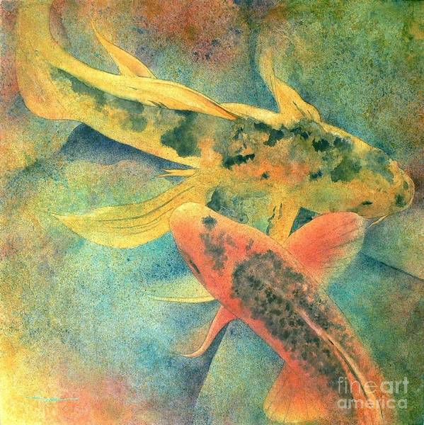 Watercolor Poster featuring the painting Goldfish by Robert Hooper