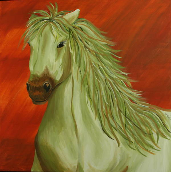 Horse Poster featuring the painting Jade Horse by Karen Rester