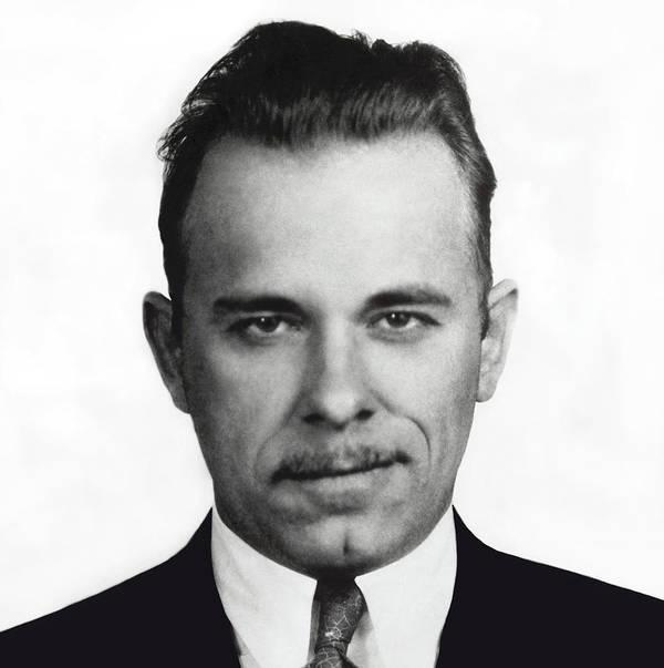 Dillinger Poster featuring the photograph John Dillinger Mugshot by Daniel Hagerman