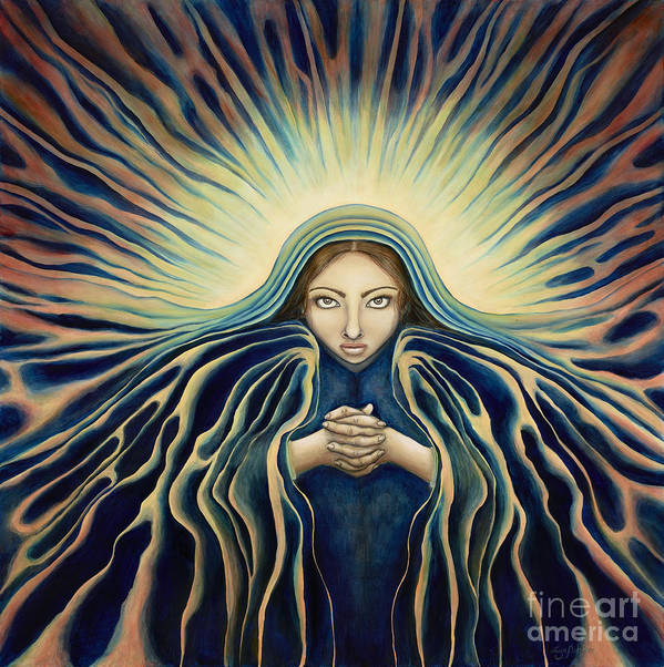 Virgin Mary Poster featuring the painting Lady Of Light by Lyn Pacificar