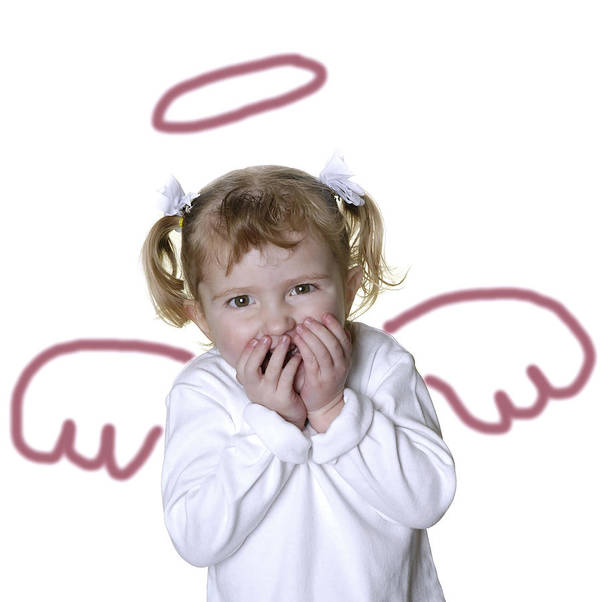 Adorable Poster featuring the photograph Little Girl Angel by Lane Erickson