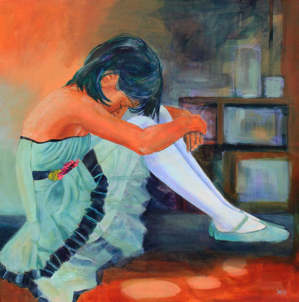 Dancer Poster featuring the painting Lost In Thought by Sue Darius