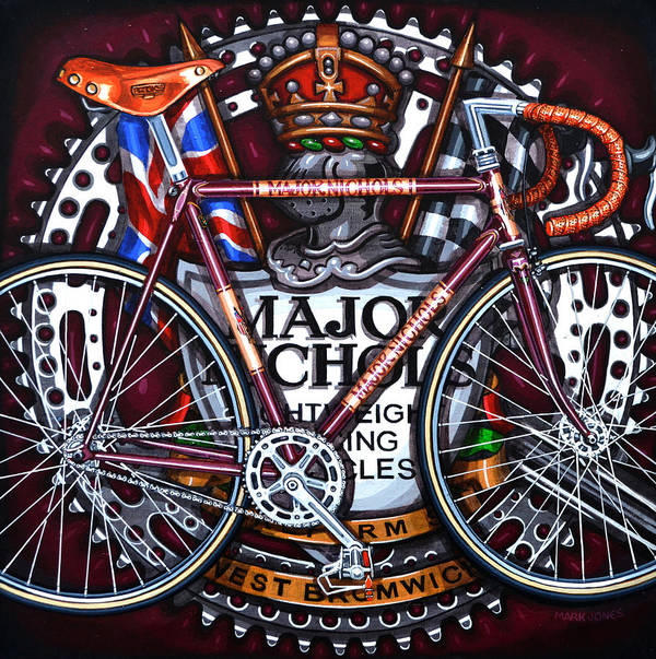 Bicycle Poster featuring the painting Major Nichols by Mark Howard Jones