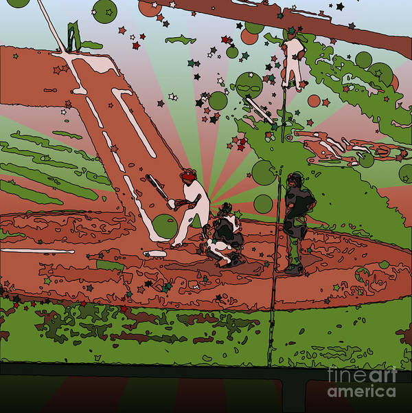 Play Ball Poster featuring the photograph Man At Bat by Terry Weaver