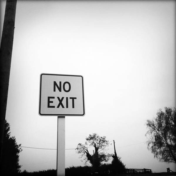 No Exit Poster featuring the photograph No Exit by Les Cunliffe
