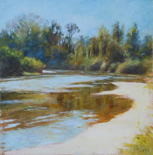 Louisiana Landscape Prints Poster featuring the pastel On The River by Nancy Stutes