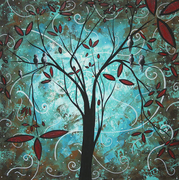 Wall Poster featuring the painting Romantic Evening By Madart by Megan Duncanson