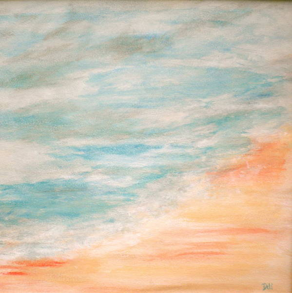 Sea And Sand Poster featuring the painting Sea And Sand by Debi Starr