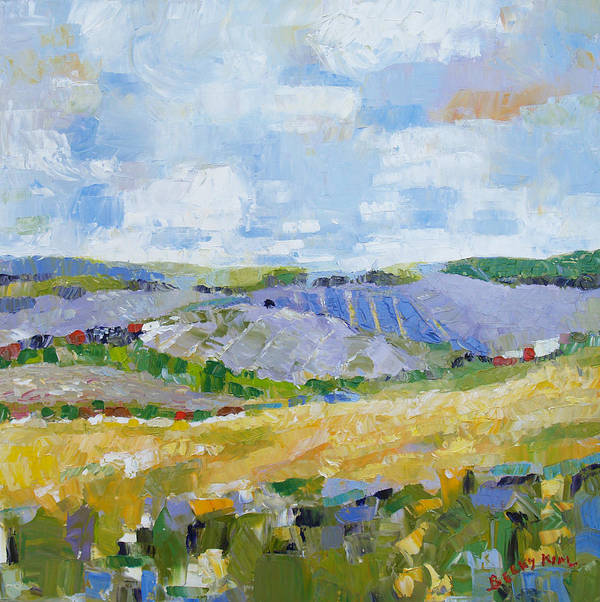 Oil Poster featuring the painting Summer Field 3 by Becky Kim