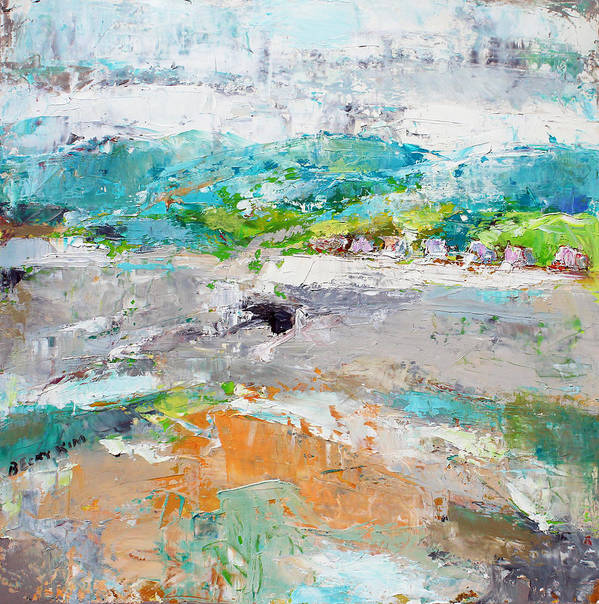 Landscape Poster featuring the painting Thinking About Winter In Summer Time 2 by Becky Kim