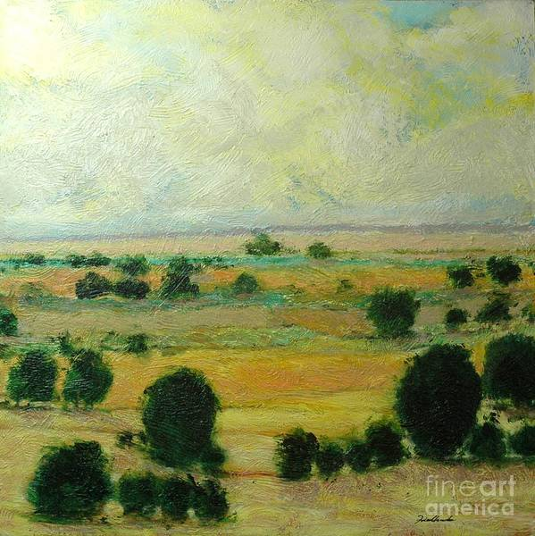 Landscape Poster featuring the painting Till The Clouds Rolls By by Allan P Friedlander