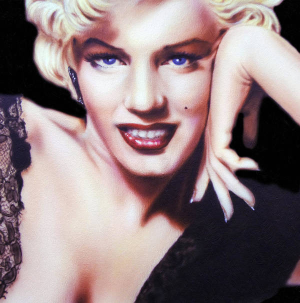Marilyn Monroe Poster featuring the painting Totally Marilyn by Georgiana Romanovna