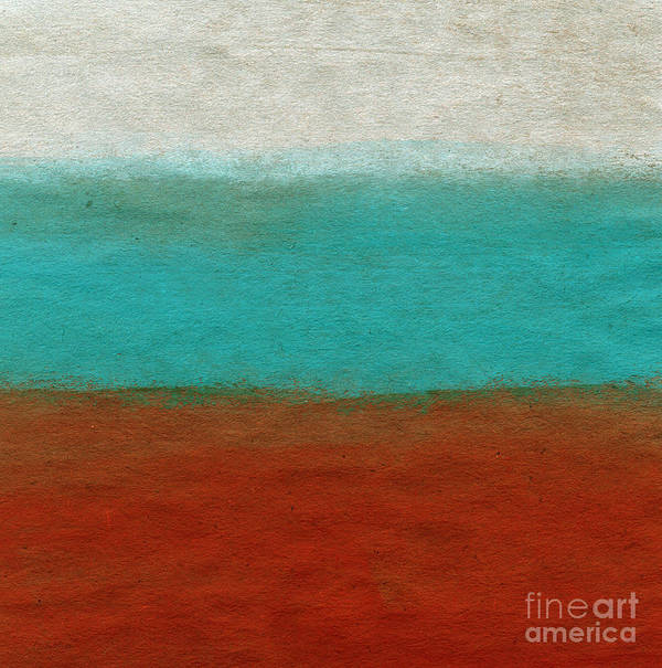Abstract Landscape Poster featuring the painting Tuscan by Linda Woods