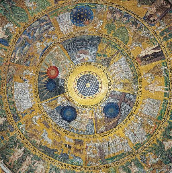 Decoration Poster featuring the photograph Unknown Artist, Cupola Of The Creation by Everett