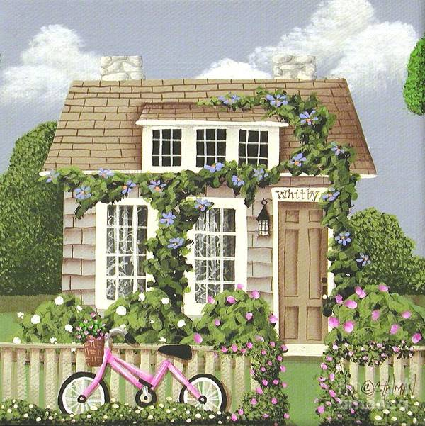 Art Poster featuring the painting Whitby Cottage by Catherine Holman