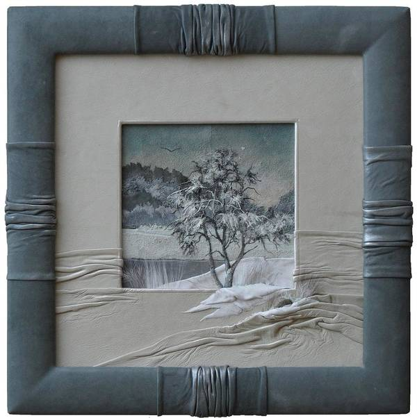 Wintry Morning Poster featuring the painting Wintry Morning by Yakubouskaya Olga