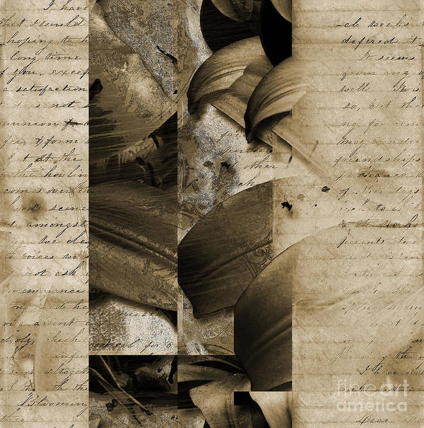 Poster featuring the mixed media Written IIi by Yanni Theodorou