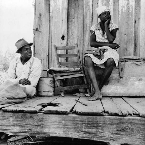 1930s Candid Poster featuring the photograph African American Sharecroppers, Titled by Everett