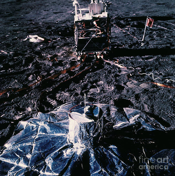 Apollo 14 Poster featuring the photograph Apollo 14 Lunar Experiments by Nasa