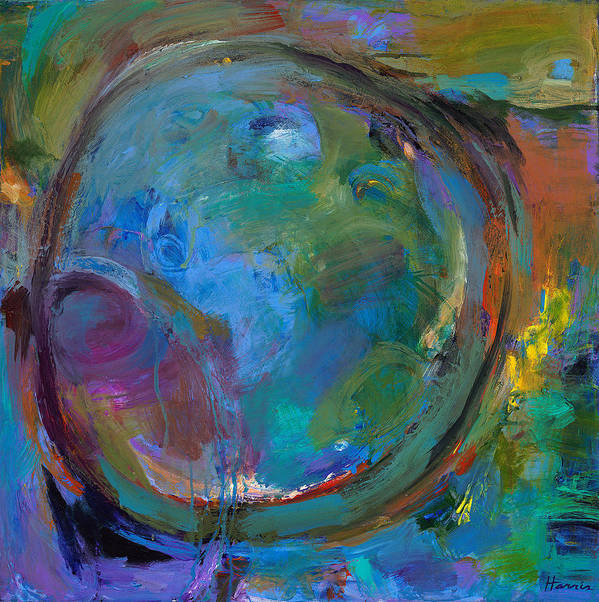 Abstract Expressionistic Poster featuring the painting Back To Forgotten Times by Johnathan Harris