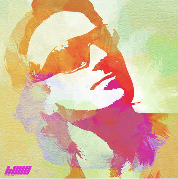 Bono Poster featuring the painting Bono by Naxart Studio