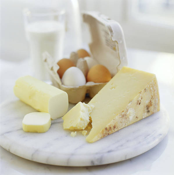 Balanced Diet Poster featuring the photograph Eggs And Cheese by David Munns