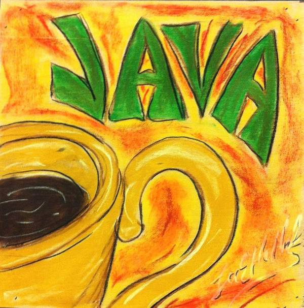 Java Poster featuring the painting Java by Lee Halbrook
