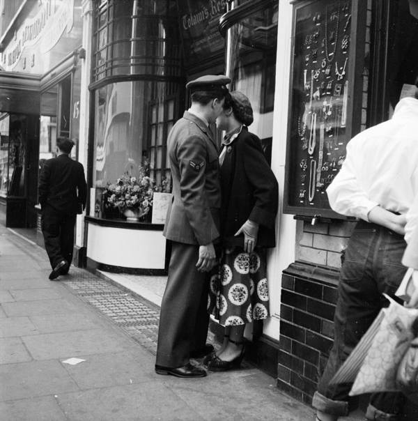 Adult Poster featuring the photograph London Couple by Bert Hardy