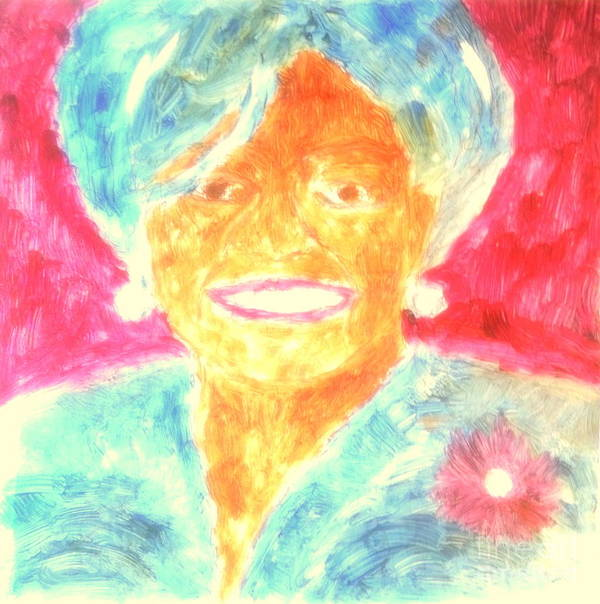President Obama Poster featuring the painting Michelle Obama 2 by Richard W Linford